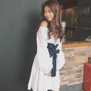 春★女性服★新しいデザイン★スウィート★セクシー★首輪★長袖★人形★ワンピース★スカー