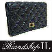 シャネル 長財布 二つ折り財布 財布 レディース 2.55 2つ折り 長財布 ブラック ヴィンテージ
