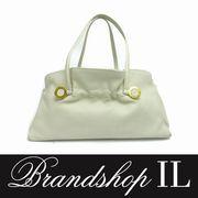 ブルガリ バッグ ブルガリ ハンドバッグ ハンドバッグ レザー ゴールド装飾 白 ホワイト