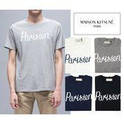 MAISON KITSUNE メゾンキツネ メンズ クルーネック 半袖Tシャツ PARISIEN (全4色)【FW16M703】