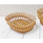 アンソレイエ すかし編みバスケット  オーバル