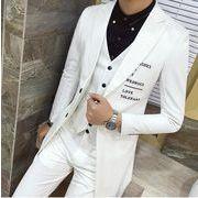 人気新品 スリーピーススーツ紳士服ビジネススーツパーティーロングジャケットスリム通勤出張おしゃれ