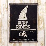 レトロ調★レクトエンボスプレート★Surf Riders ★