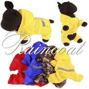 bc138366◆送料0円◆【愛犬雨服】 ドッグレインコート♪ ドッグウェア♪ 反射安全 帽子付