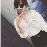 在庫あり♪海外大流行♪ファション♪刺繍 Vネック 長袖 ブラウス  7apr-hua-01