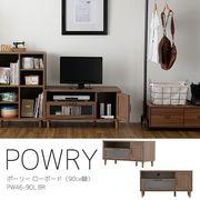 【送料無料】POWRY(ポーリー)テレビ台 ローボード(90cm幅)BR