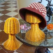 【送料無料】インドネシアより自社輸入!籐製 帽子スタンド