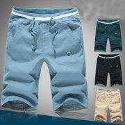 男性服装 夏 レジャー ショートパンツ 大きいサイズ 五分パンツ 男 刺しゅう