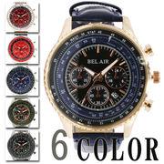 【Bel Air collection】★メンズパイロットウォッチ 腕時計 OSD45
