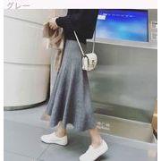 秋 新しいデザイン 韓国風 ファッション 何でも似合う ハイウエスト ストレッチ 中長デ