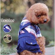 冬用犬服 ペット服 暖かい 愛犬 ハロウィン ペット用品 2色 つなぎ