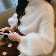 春秋冬レディーストップス 2色ブラウス チュニック ニットセーターファッション通勤通学 韓国風 カジュアル