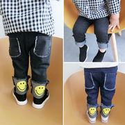 男児 秋服 ジーンズ 新しいデザイン 韓国風 児童 赤ちゃん 笑み ズボン