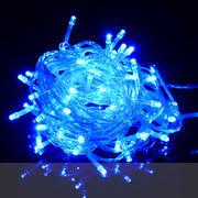 【青・ブルー】イルミネーションLEDライト100球 10m 防雨仕様 コントローラ付
