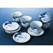 かぶ絵山水 いっぷく碗皿揃 (箱:化粧)【西日本陶器ギフト】【品番:NETSTE-247326】
