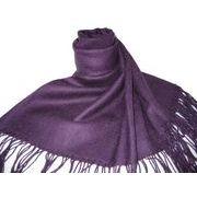 高級感ある厚手ハイグレードパシュミナストール 紫