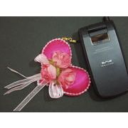 【70%オフ対象商品】携帯ストラップ・ハートブーケ・薔薇