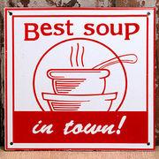 """オールドファームハウス サインボード""""Best Soup(ベストスープ)"""""""