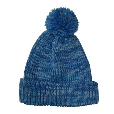 ミックスカラー ボンボン ニット帽(全5色)【フリーサイズ/男女兼用】【帽子】
