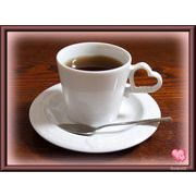 【恋するハート・シリーズ】のコーヒーカップ&ソーサー、化粧箱付きです。ギフトにどうぞ。