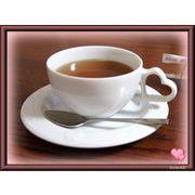 【恋するハート・シリーズ】のティーカップ&ソーサー、白磁(美濃焼)の質の良い商品です。