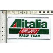 輸入ワッペン ALITALIA RALLY TEAM アリタリア ラリーチーム