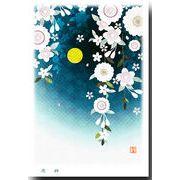 桜ことばポストカード 夜桜