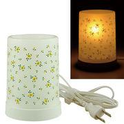 Plastic Aroma Lamp PP アロマランプ(コードタイプ) リトルフラワー:イエロー◆室内照明