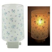 Plastic Aroma Concent Lamp PP アロマコンセントランプ リトルフラワー:ブルー◆室内照明