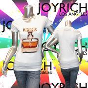 【JOYRICH】ジョイリッチ★ロゴ★香水フォトプリント★半袖Tシャツ ホワイト