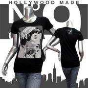 【HOLLYWOOD MADE】ハリウッドメイド★MISS MODERN GIRL TE★ロゴ★No.9★半袖Tシャツ ブラック