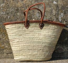 Leather Trim Classic Basket