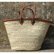 Leather Trim Classic Basket