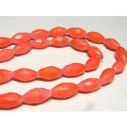 珊瑚(染色) 連販売 ピンク オーバルカット 約5×9mm