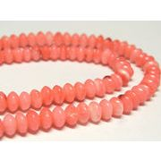 珊瑚(染色) 連販売 ピンク ボタン 約5×3mm