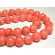 珊瑚(染色) 連販売 ピンク ラウンド 約10mm