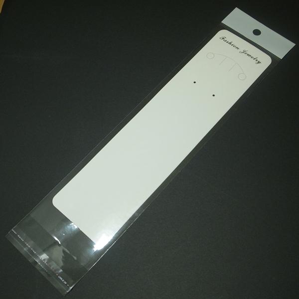 OPP袋ヘッダー付(台紙付き) 200枚セット <ネックレス専用> 透明 ディスプレイ用品 梱包 ラッピング 包装