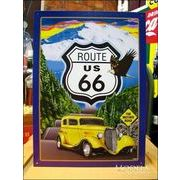 アメリカンブリキ看板 U.S.ROUTE66 Mother Road