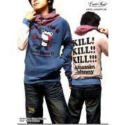 ★EVERSOUL大人気「殺し屋ジョニー」ゆったりシルエット&ボリュームスタンド衿裏毛プルパーカー!  ★