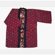 婦人リバーシブル羽織  麻の葉柄