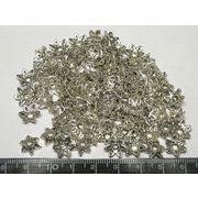 チベタン 座金 フラワーリング 銀古美 約10mm【100個セット】