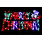 クリスマスイルミネーション  LEDクリスタルMCタイトル(スノーマン)