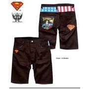 ★大人気アメコミキャラクター「スーパーマン」のプリント&刺繍チノショートパンツ(EAGLE)★