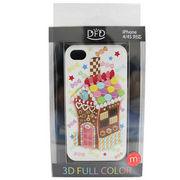 【iPhone 4/4S対応】DFD iphoneケース 3Dフルカラー ツヤありの光沢ある仕上がり お菓子の家 カジュアル