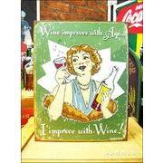 アメリカンブリキ看板 ワインで美しく