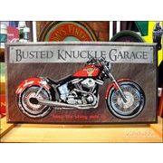 アメリカンブリキ看板 The Basted Knuckle Garage BIKE