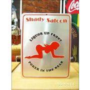 アメリカンブリキ看板 Shady saloon