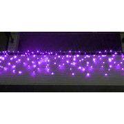 LEDイルミネーション、アイシクル(ツララ)、常点、プロ仕様(V4)、140球、パープル(紫)