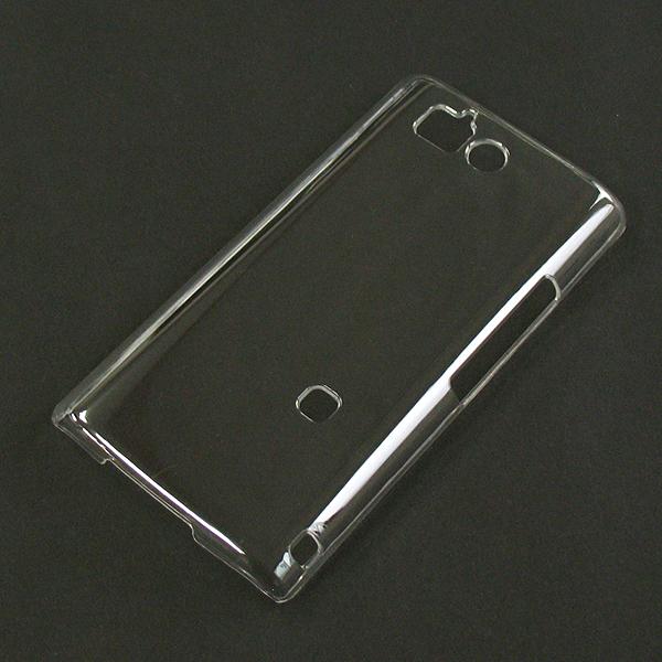【SH-09D/PC】ドコモ AQUOS PHONE ZETA (アクオスフォンゼータ) クリア(透明色)ハードタイプPC素材