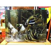 アメリカンブリキ看板 美しくはばたく3羽の鴨